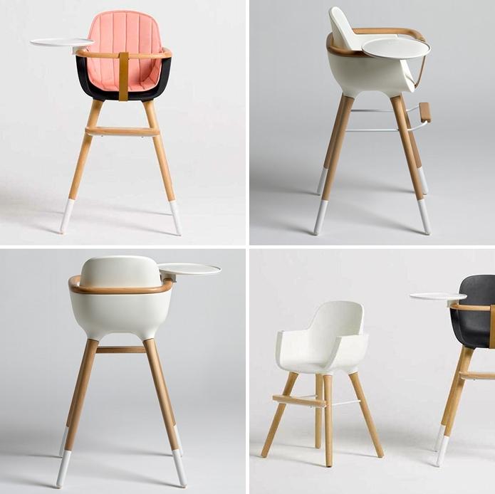 S lection de chaises hautes modernes et design club mamans for Chaise haute design