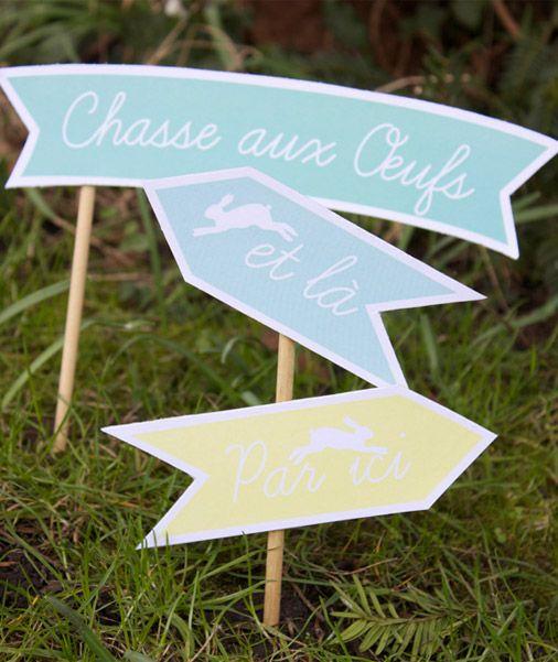 pancarte chasse aux oeufs à imprimer