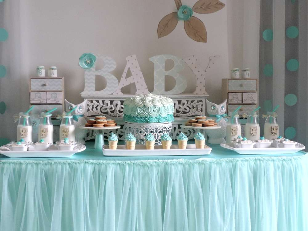 Baby shower gar on une d co tout en bleu - Idee baby shower ...