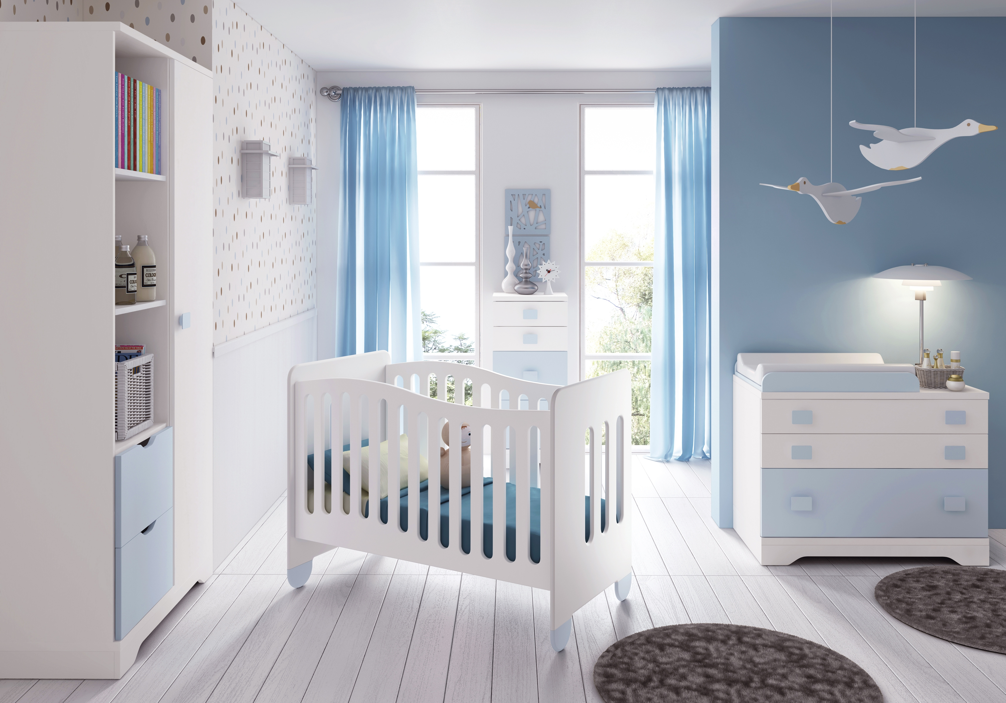 10 chambres de petits gar ons modernes et originales for Chambre garcon marron et bleu