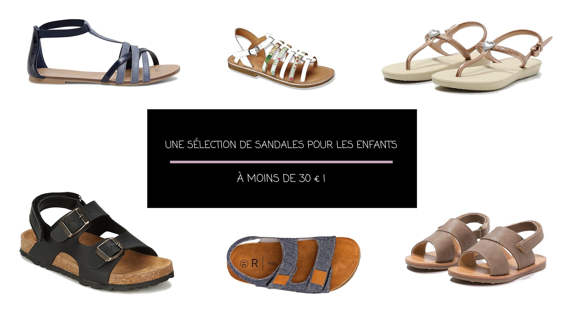 Sandales pour les enfants : une sélection à moins de 30€