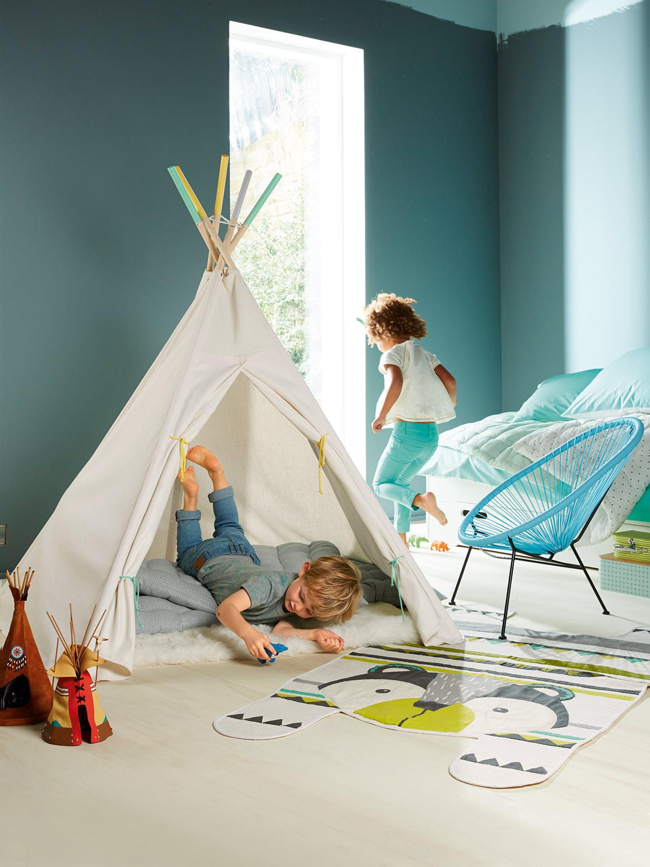 chambre garcon avec tipi 153421 la. Black Bedroom Furniture Sets. Home Design Ideas
