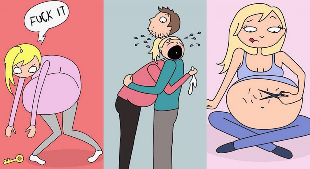 Les joies de la grossesse … ou pas