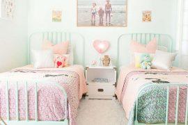 idées de chambres pastels pour petite fille