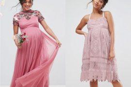 robes de maternité pour les grandes occasions roses