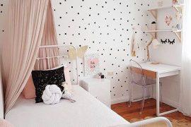 décoration chambre fille polka dot