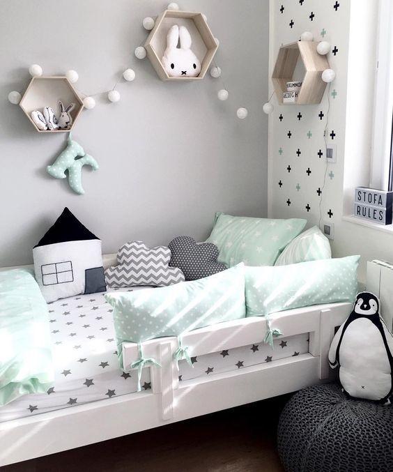 SHOP THE ROOM | Décoration chambre enfant vert menthe - Club Mamans
