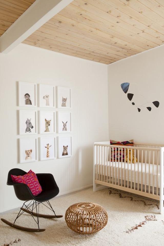 chambre bebe sobre bois