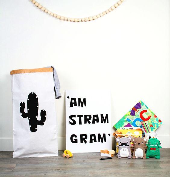 sac rangement deco cactus