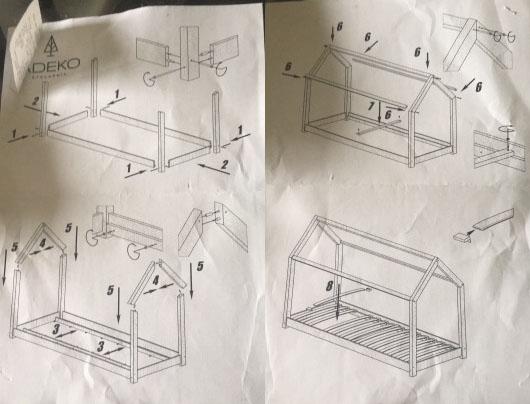 le fameux lit maison en bois pas cher club mamans. Black Bedroom Furniture Sets. Home Design Ideas