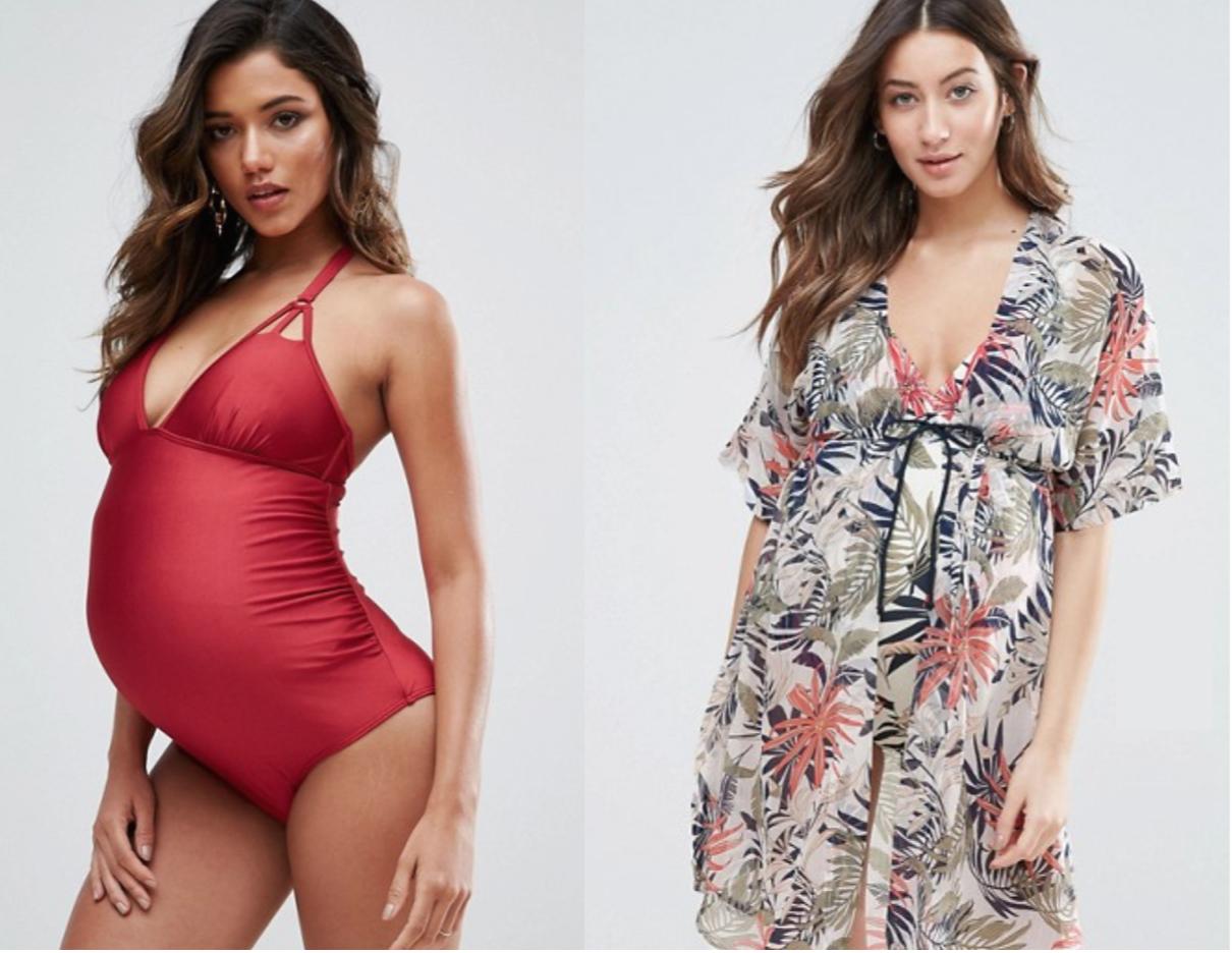 selection maillots de bain et tenues de plage pour futures mamans