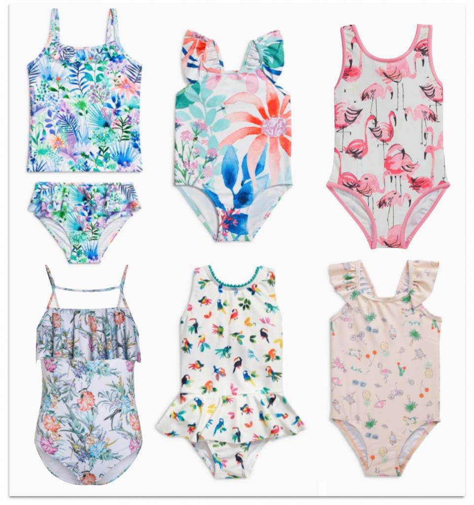 Sélection maillots de bain filles motifs tropicaux