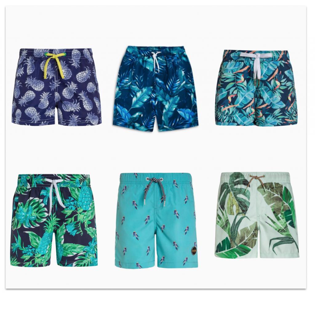 Sélection maillots de bain garçons motifs tropicaux