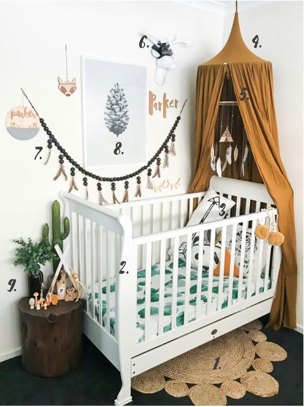 décoration chambre bébé cactus