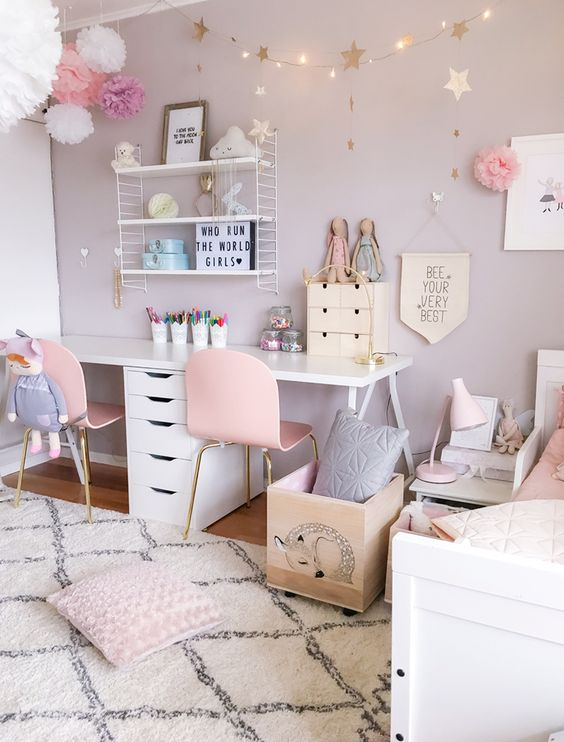 Rose Chambre Pastel Fille The RoomDécoration Mamans Club ...