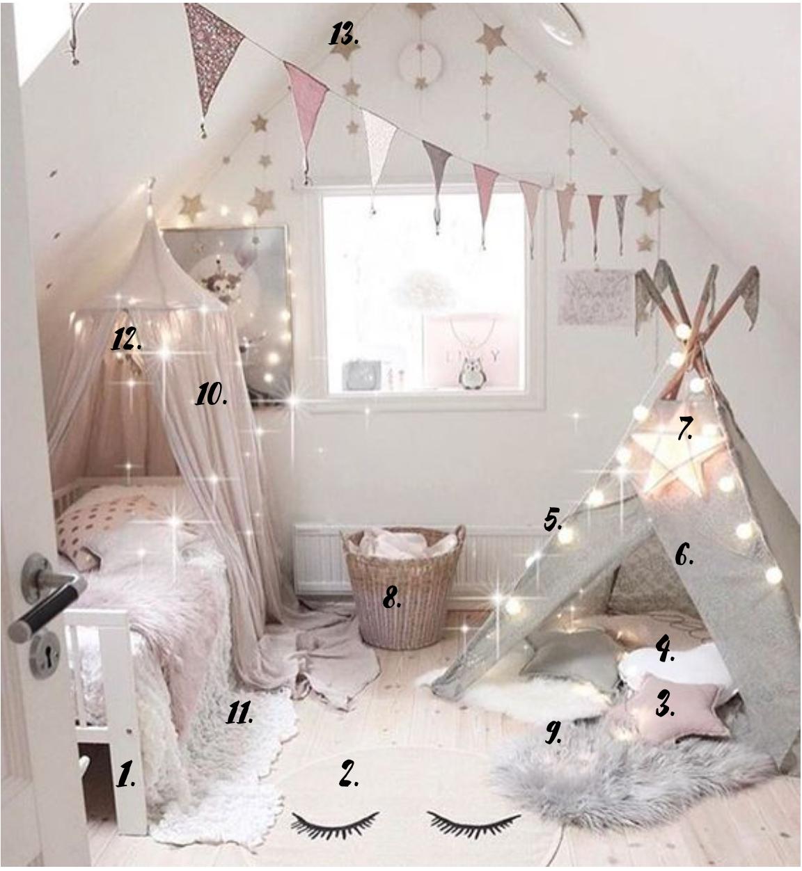 décoration chambre fille étoiles