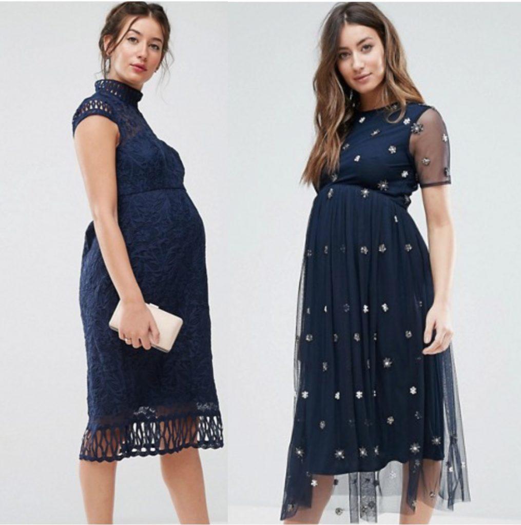 Robes de maternité pour les grandes occasions bleu marine