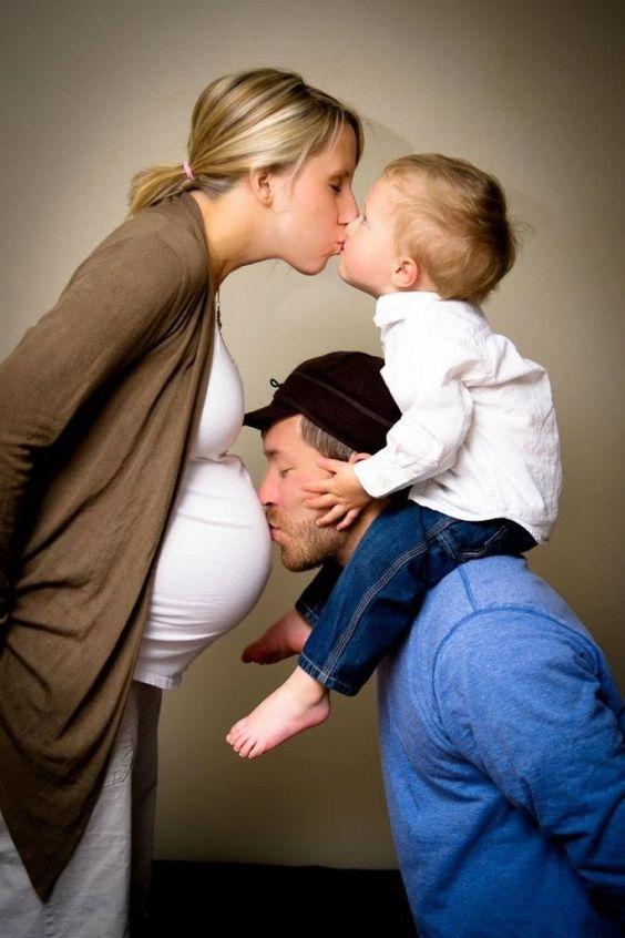 Idées photos de grossesse famille