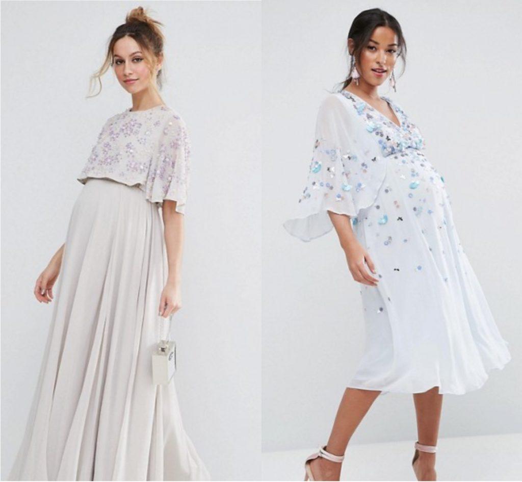 robes de maternité pour les grandes occasions à manches