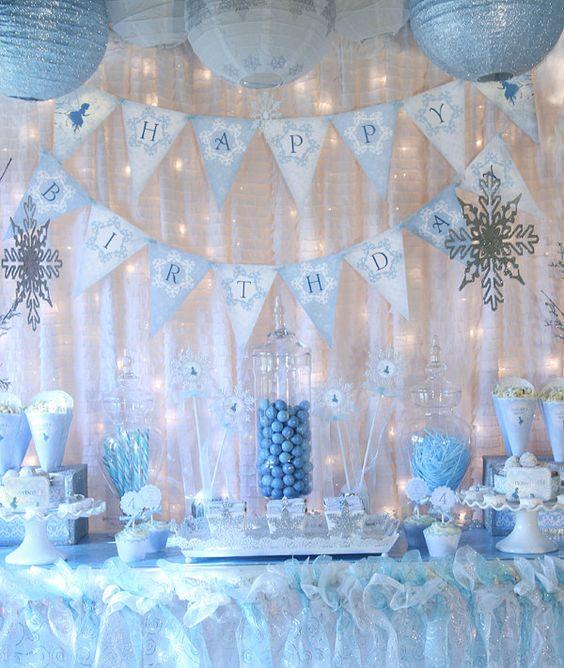 idées d'anniversaire pour filles reine des neiges