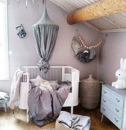 SHOP THE ROOM | Chambre bébé mauve et gris