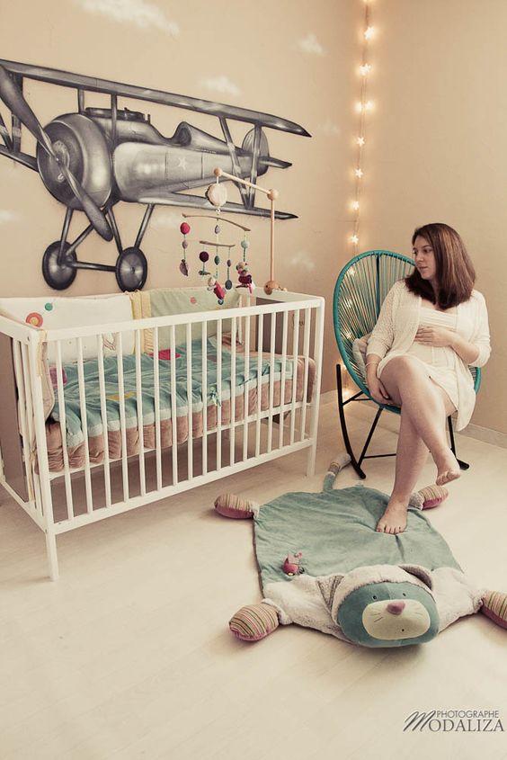 photo grossesse chambre bebe