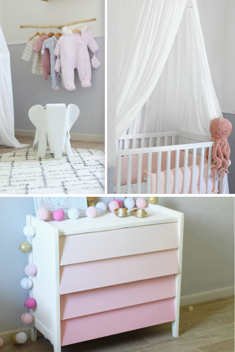 La décoration de chambre bébé d\'Eva ⋆ Club Mamans
