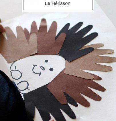 Activité manuelle avec enfant : Le Hérisson