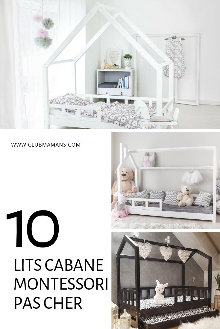 Chambre Lit Cabane Fille lit cabane pas cher montessori - 10 modèles pour vous