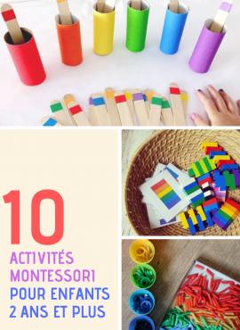 Activités Montessori 2 ans : 10 idées faciles !