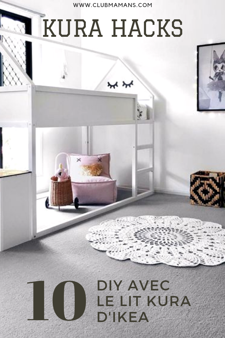 Lit Mezzanine Double Adulte kura hacks : le lit kura d'ikea revisité en 10 diy! ⋆ club